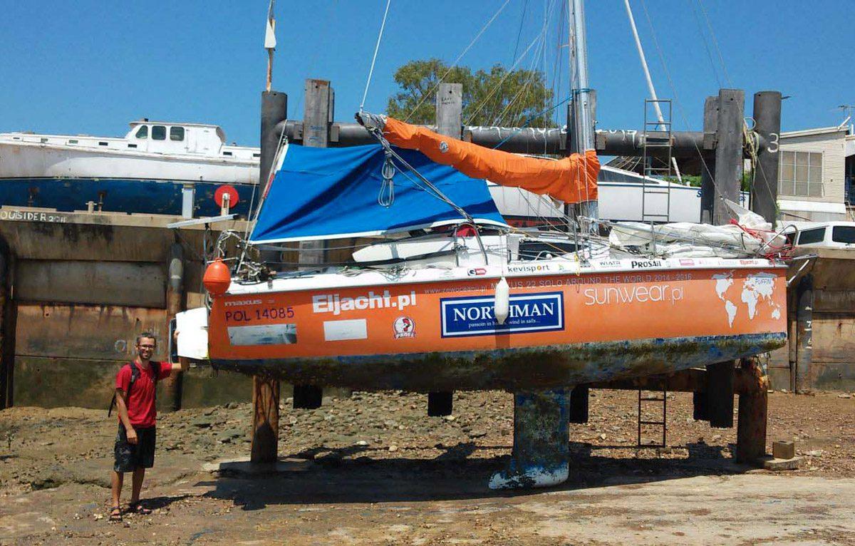 Parti Di Una Barca giro del mondo su una barca di 6 metri: bravo szymon